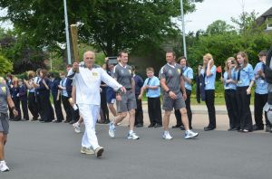 The Olympic Torch at Much Wenlock