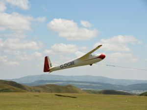 Glider at the Long Mynd - 2014
