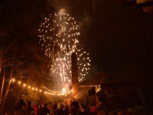 Fireworks at Blists Hill Victorian Town - 2014