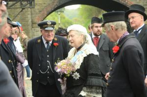 Queen Victoria -The Severn-Valley-Railway at Arley, Shropshire